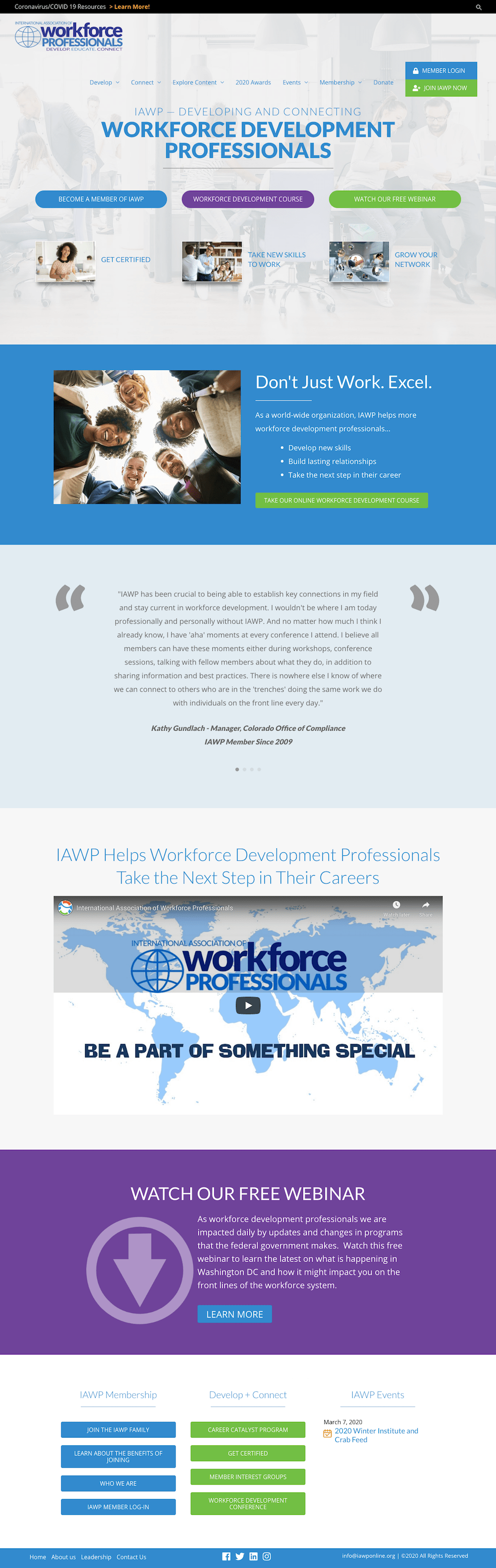 International Association of Workforce Professionals Website